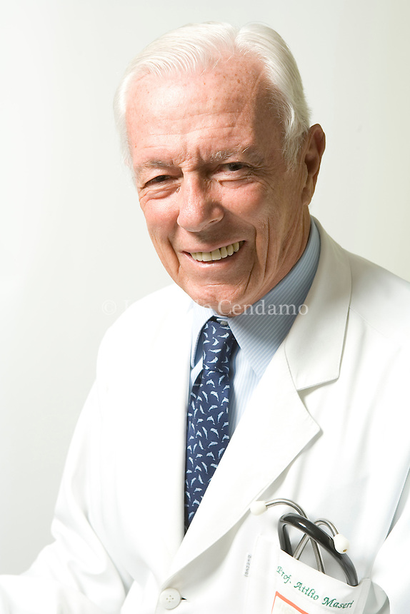 Milan, Italy 2007. Attilio Maseri, Cardiologist and Cardiology Professor at the Univeristà Cattolica in Rome.