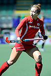 The Hague, Netherlands, June 13: Eunji Cho #15 of Korea looks on during the field hockey placement match (Women - Place 7th/8th) between Korea and Germany on June 13, 2014 during the World Cup 2014 at Kyocera Stadium in The Hague, Netherlands. Final score 4-2 (2-0)  (Photo by Dirk Markgraf / www.265-images.com) *** Local caption ***