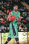 North Texas Mean Green guard Chris Jones (5) in action during the game between the Lehigh Mountain Hawks and the North Texas Mean Green at the Super Pit arena in Denton, Texas. Lehigh defeats UNT 90 to 75...