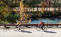 """NWA Democrat-Gazette/FLIP PUTTHOFF <br /> """"The Joy of Cycling"""" features quotations about the pleasures of two-wheeled travel."""