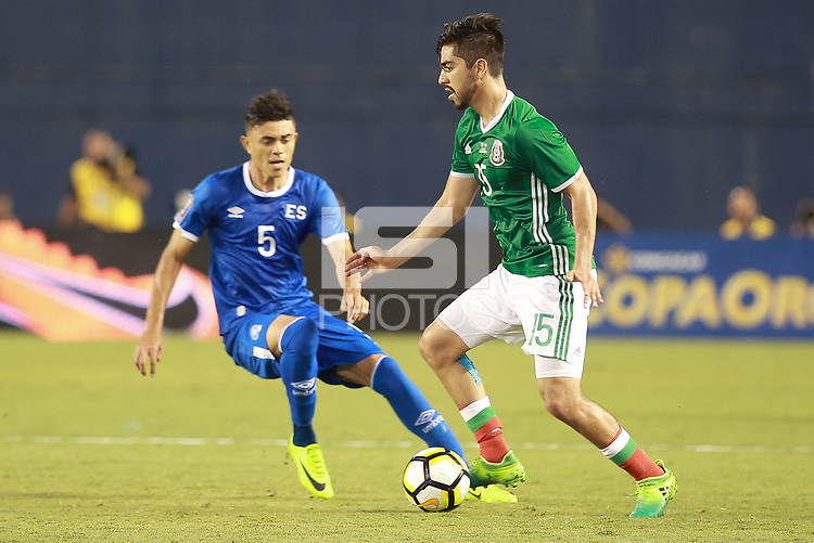 San Diego, CA - Sunday July 9, 2017: The national teams of Mexico and El Salvador in group C action during a 2017 CONCACAF Gold Cup match played at Qualcomm Stadium.