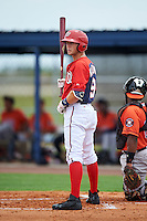 GCL Nationals shortstop Carter Kieboom (9) at bat during a game against the GCL Astros on August 14, 2016 at the Carl Barger Baseball Complex in Viera, Florida.  GCL Nationals defeated GCL Astros 8-6.  (Mike Janes/Four Seam Images)