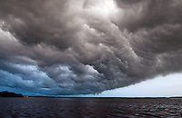 A massive storm covers Chokoloskee Island in the Florida Everglades and the 10,000 islands. Photo/Andrew Shurtleff