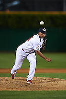 Peoria Chiefs pitcher Jery Then (15) delivers a pitch during a game against the Wisconsin Timber Rattlers on August 21, 2015 at Dozer Park in Peoria, Illinois.  Wisconsin defeated Peoria 2-1.  (Mike Janes/Four Seam Images)