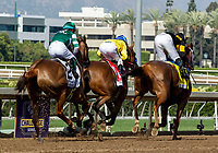 ARCADIA, CA. JUNE 3: Start of the inaugural Beholder Mile (Grade l) on June 3, 2017 at Santa Anita Park, in Arcadia, CA.(Photo by Casey Phillips/Eclipse Sportswire/Getty Images)