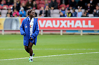 Eniola Aluko of Chelsea was named as a substitute during Chelsea Ladies vs Liverpool Ladies, FA Women's Super League FA WSL1 Football at Kingsmeadow on 7th October 2017