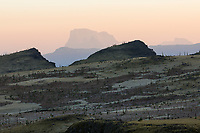 Dawn Landscape scene in the Simien Mountains, Ethiopia.