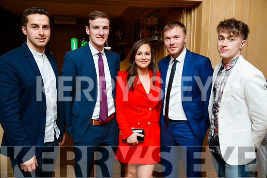 Brian Reidy, Philip O'Connor, Aileen O'Sullivan, Sean Óg  Ó Ciardubháin and Gary O'Leary, enjoying the Cordal GAA social at Ballygarry House Hotel & Spa, Tralee, on Saturday night last.