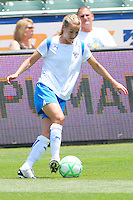 Heather Mitts #2 of the Boston Breakers controls the ball during their WPS match against the Los Angeles Sol at Home Depot Center on May 10, 2009 in Carson, California.