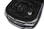 Car stock 2018 BMW 6 Series Gran Turismo Luxury 5 Door Hatchback engine high angle detail view