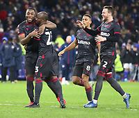 4th February 2020; Cardiff City Stadium, Cardiff, Glamorgan, Wales; English FA Cup Football, Cardiff City versus Reading; Sone Aluko of Reading celebrates scoring the winning penalty with team mates