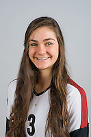 STANFORD, CA - AUGUST 13, 2013 - Morgan Bouthaker of the Stanford Women's Volleyball team.