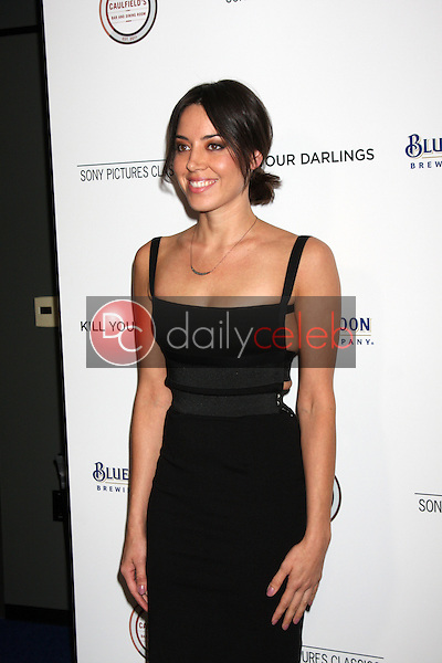 """Aubrey Plaza<br /> at the """"Kill Your Darlings"""" Premiere, Writers Guild Theater, Beverly Hills, CA 10-03-13<br /> David Edwards/DailyCeleb.Com 818-249-4998"""