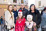 Enjoying the CH Chemist Annual Santa Parade on Saturday were Sharon Lock, Wayne Murphy, Mike Murphy, Noreen Murphy, Rea Murphy, Caoimhe Nammock