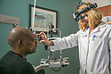 Eleanora Lad, MD, PhD, retinal specialist, examines a patient at the Duke Eye Center at Page Road, which is conveniently located at the state-of-the-art Duke Medical Plaza Page Road in RTP -- the heart of the North Carolina Triangle (Raleigh, Durham, and Chapel Hill area).