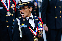 Military members attend the annual Veterans Day parade in New York.  10.11.2014. Eduardo Munoz Alvarez/VIEWpress