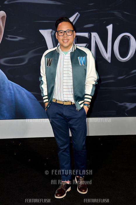 LOS ANGELES, CA. October 01, 2018: Nico Santos at the world premiere for &quot;Venom&quot; at the Regency Village Theatre.<br /> Picture: Paul Smith/Featureflash