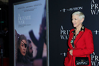 "LOS ANGELES - OCT 24:  Annie Lennox at the ""A Private War"" Premiere at the Samuel Goldwyn Theater on October 24, 2018 in Beverly Hills, CA"