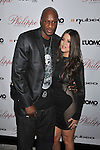 WEST HOLLYWOOD, CA. - October 12: L.A. Lakers NBA Player Lamar Odom and wife Khloe Kardashian arrive at the opening celebration for Philippe West Hollywood on October 12, 2009 in Los Angeles, California.