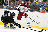 Justin Breton (Bentley - 3), Patrick McNally (Harvard - 8) - The Harvard University Crimson defeated the visiting Bentley University Falcons 5-0 on Saturday, October 27, 2012, at Bright Hockey Center in Boston, Massachusetts.