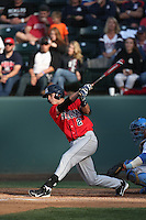 Kevin Newman (2) of the Arizona Wildcats bats during a game against the UCLA Bruins at Jackie Robinson Stadium on May 16, 2015 in Los Angeles, California. UCLA defeated Arizona, 6-0. (Larry Goren/Four Seam Images)