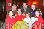 TABLE QIUZ: Launching the table quiz in aid of the Irish Cancer Society and the Irish Red Cross to be held at the Imperial hotel, Tralee on Friday 16th of November at 8:45pm front l-r: Veronica Heaslip, David Heaslip (PRO Red Cross), Mejella Ford (acting yoth officer Red Cross) and Michaela Heaslip. Back l-r: Fox O'Connor (PRO cancer society), Ed O'Connor (vice chairman cancer society) and Chris Griffin (chairperson cancer society).