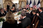 United States President Barack Obama participates in a bilateral meeting with President Nicolas Sarkozy of France at the Waldorf Astoria Hotel in New York, New York, September 21, 2011. .Mandatory Credit: Pete Souza - White House via CNP