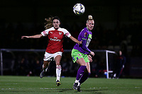 Danielle van de Donk of Arsenal and Danique Kerkdijk of Bristol during Arsenal Women vs Bristol City Women, FA Women's Super League Football at Meadow Park on 14th March 2019