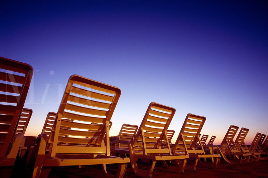 Outdoor lounge chairs.