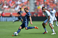 Santa Clara, CA - Sunday July 22, 2018: Juan Mata during a friendly match between the San Jose Earthquakes and Manchester United FC at Levi's Stadium.