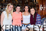 Brainiacs: Hazel O'Leary, Sheree Murphy, Louise Moynihan and Fiona McSweeney having fun at the Killarney Musical Society table quiz in the Killarney Oaks Hotel on Friday night