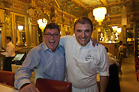 Europe/France/Midi-Pyrénées/31/Haute-Garonne/Toulouse: Brasserie:Le Bibent, Christian Constant et son chef Christophe Marque, [Non destiné à un usage publicitaire - Not intended for an advertising use]