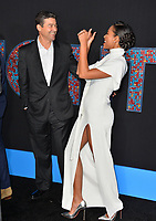 Kylie Bunbury &amp; Kyle Chandler at the premiere for &quot;Game Night&quot; at the TCL Chinese Theatre, Los Angeles, USA 21 Feb. 2018<br /> Picture: Paul Smith/Featureflash/SilverHub 0208 004 5359 sales@silverhubmedia.com