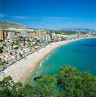 Spain, Costa Blanca, Benidorm: Platja De Ponent | Spanien, Costa Blanca, Benidorm: Platja De Ponent