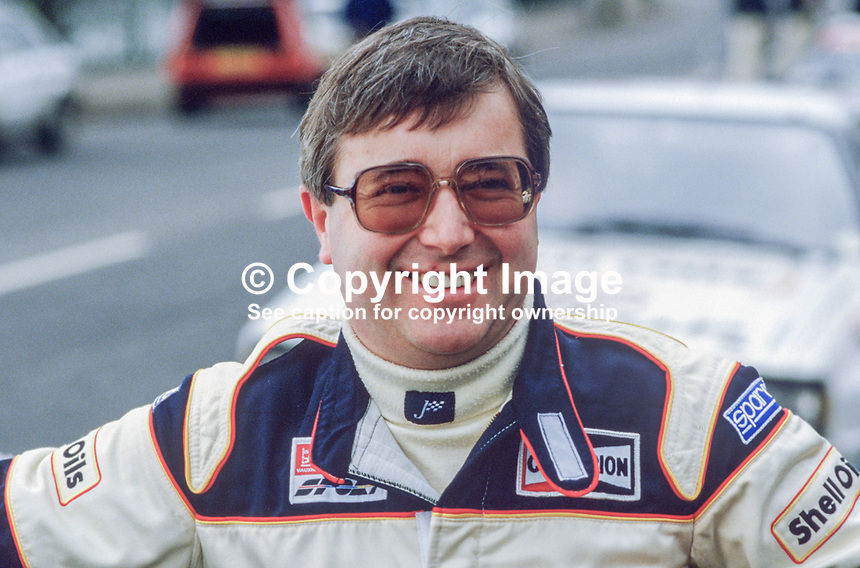 Austin Frazer, rally driver, N Ireland, 19850403AF.<br />