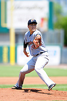 New York Yankees pitcher Masahiro Tanaka (19) during his rehabilitation start with the Scranton/Wilkes-Barre RailRiders versus the Pawtucket Red Sox at McCoy Stadium on May 27, 2015 in Pawtucket, Rhode Island. (Ken Babbitt/Four Seam Images)