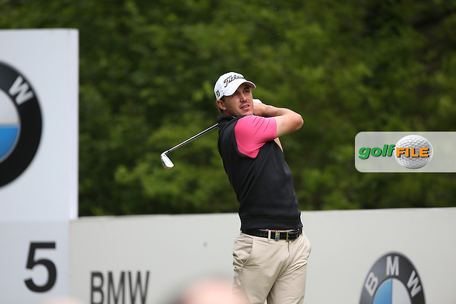 Brooks Koepka (USA) in action during Round Three of the 2015 BMW PGA Championship over the West Course at Wentworth, Virginia Water, London. 23/05/2015. Picture David Lloyd | www.golffile.ie.