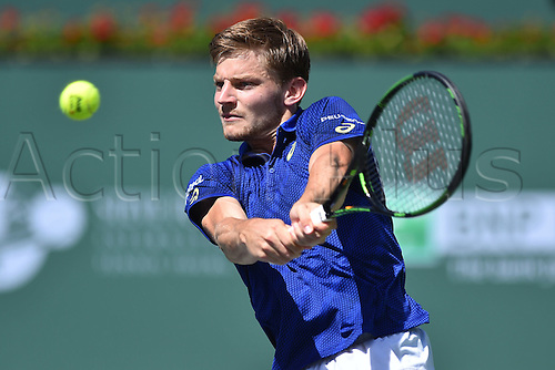 19.03.2016. Indian Wells, California USA. BNP Paribas tennis tournament, Mens semi-finals.  David Goffin (Bel) loses to Milos Raonic in 3 sets