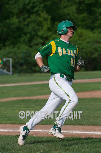 CHS senior shortstop Kyle Cutler, a captain, runs to first base.