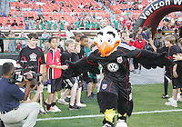 Talon, mascot of D.C. United of the Colorado Rapids during an MLS match on May 15 2010, at RFK Stadium in Washington D.C. Colorado won 1-0.