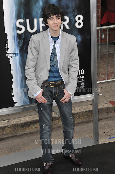 """Zach Mills at the Los Angeles premiere of his new movie """"Super 8"""" at the Regency Village Theatre, Westwood..June 8, 2011  Los Angeles, CA.Picture: Paul Smith / Featureflash"""