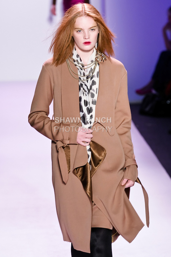 Alexina Graham walks the runway in an outfit by Thuy Diep, for her Thuy Fall Winter 2010 collection fashion show, during Mercedes-Benz Fashion Week Fall 2010.