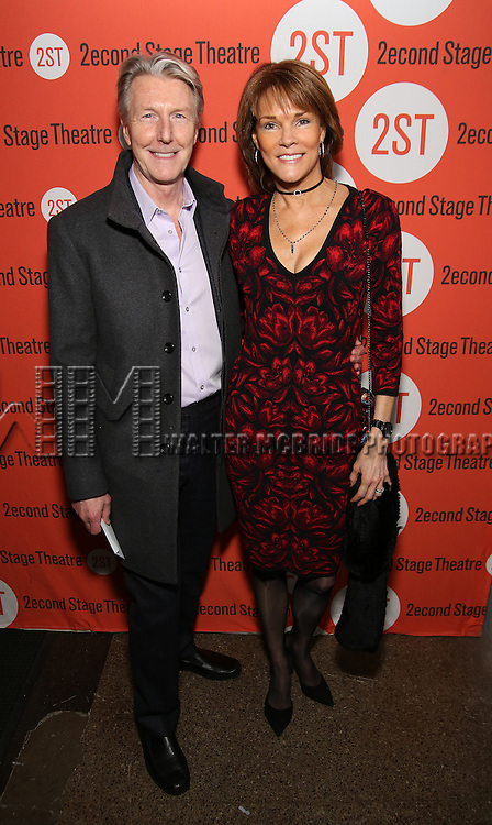 Byron Jennings and Carolyn McCormick attend the Off-Broadway Opening Night performance of 'Man From Nebraska' at the Second StageTheatre on February 15, 2017 in New York City.