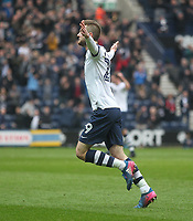 Preston North End's Tom Barkuizen celebrates scoring his sides first goal <br /> <br /> Photographer Mick Walker/CameraSport<br /> <br /> The EFL Sky Bet Championship - Preston North End v Reading - Saturday 11th March 2017 - Deepdale - Preston<br /> <br /> World Copyright &copy; 2017 CameraSport. All rights reserved. 43 Linden Ave. Countesthorpe. Leicester. England. LE8 5PG - Tel: +44 (0) 116 277 4147 - admin@camerasport.com - www.camerasport.com