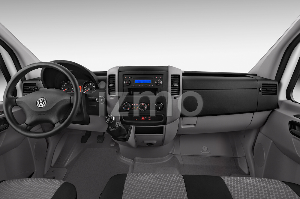 Stock photo of straight dashboard view of a 2014 Volkswagen CRAFTER 2.0TDI 4 Door Cargo Van Dashboard