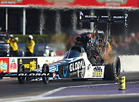 Apr 21, 2017; Baytown, TX, USA; NHRA top fuel driver Shawn Langdon during qualifying for the Springnationals at Royal Purple Raceway. Mandatory Credit: Mark J. Rebilas-USA TODAY Sports