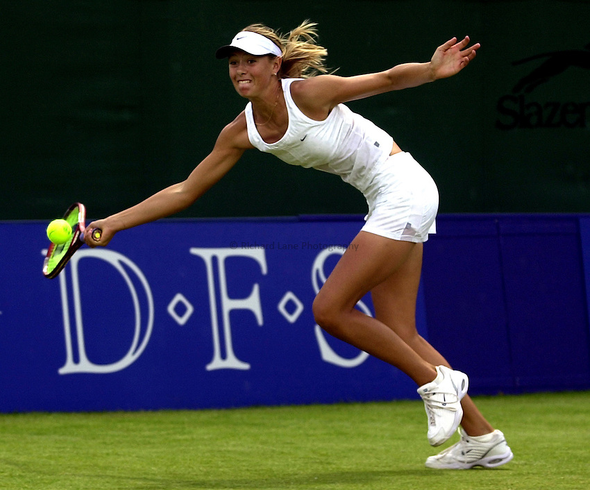 Photo: Richard Lane..DFS Classic Women's International Tennis at Edgebaston. 12/06/2003..Maria Sharapova.