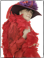 Slug: WK/Red Hatters.Date: 10-04-2004.Location:   Pink Bicycle Tea Room. Occoquan, VA.Photographer:  Mark Finkenstaedt FTWP.Caption:  Doris Harris, Vice Queen of Hells Belles.