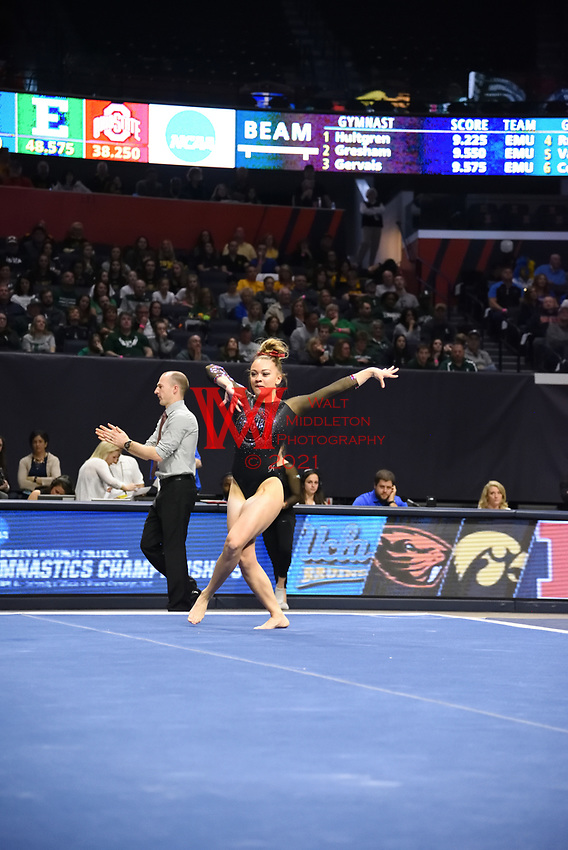 The Ohio State University women's gymnastics team placed 5th at the 2017 NCAA Regionals Championships. April 1, 2017