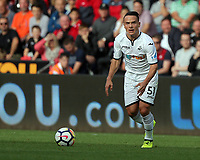 Roque Mesa of Swansea City in action during the Premier League match between Swansea City and Watford at The Liberty Stadium, Swansea, Wales, UK. Saturday 23 September 2017